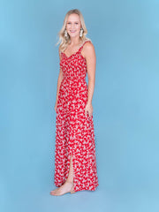 Tall women's maxi dress Side shot