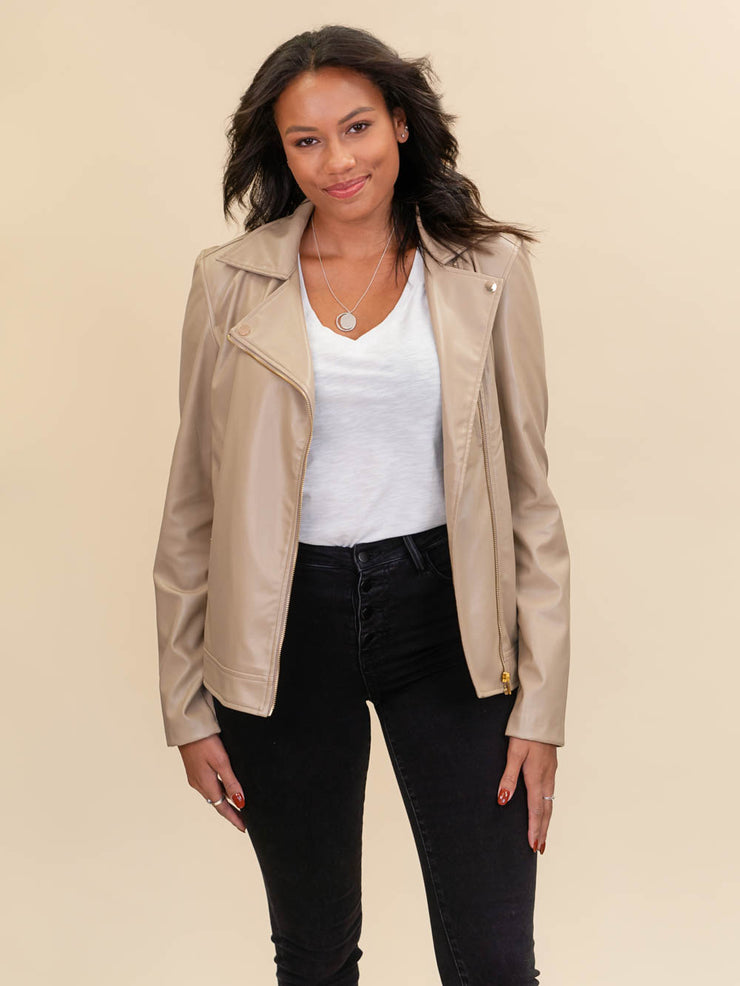 leather jacket for tall ladies tan fabric