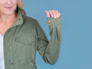 Women's Tall Utility Jacket Olive Cuff