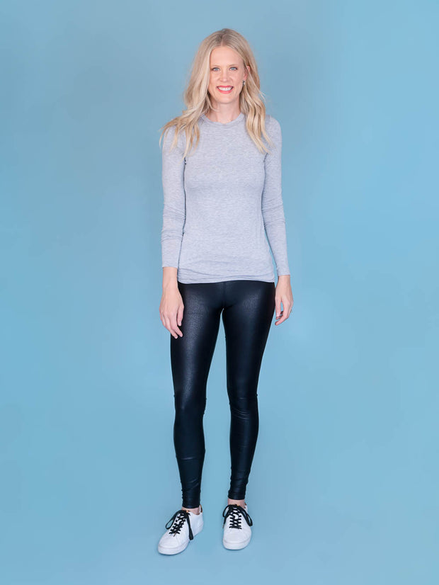 Faux Leather Tall Leggings