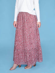 maxi skirt for tall women close up front shot