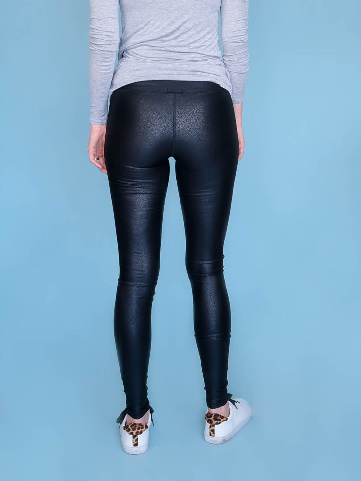 Faux Leather Leggings Long Inseams
