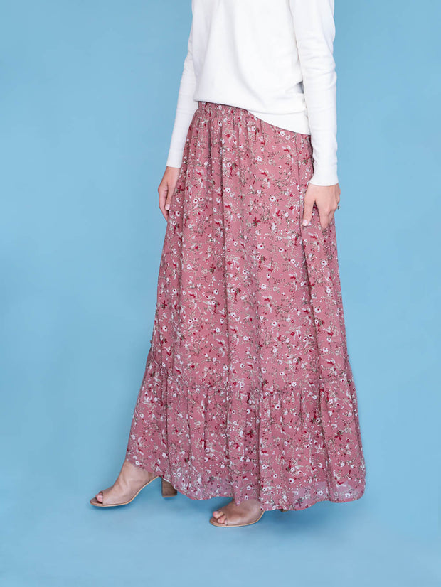 maxi skirt for tall women side view