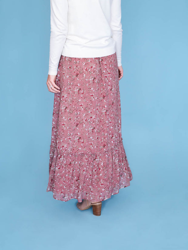 maxi skirt for tall women back view