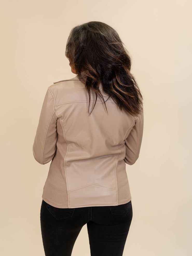 back view tall leather jacket