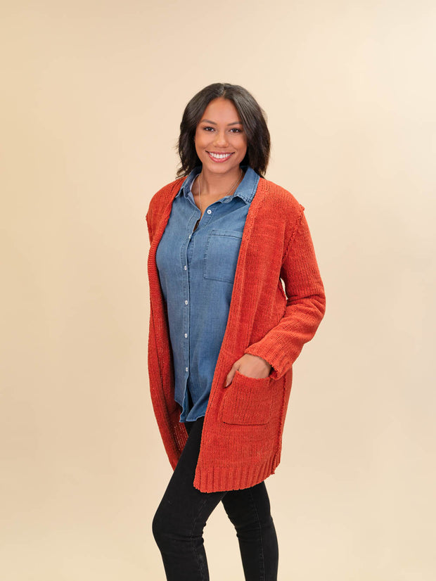 Red Cardigan for Tall Ladies Side