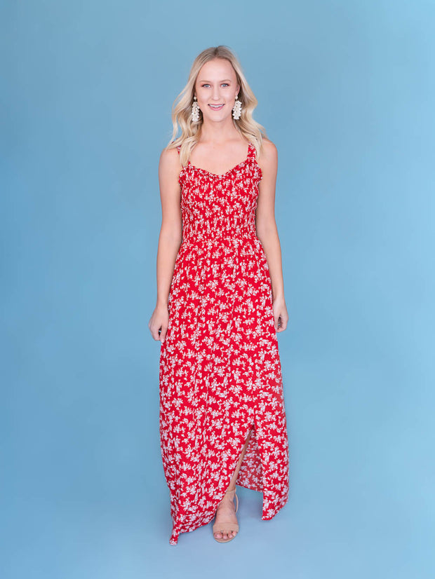 Tall women's maxi dress full shot