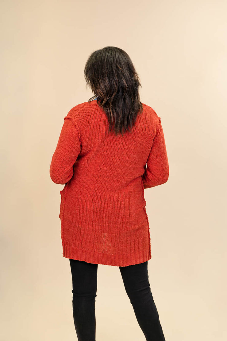 Red Cardigan for Tall Ladies Back