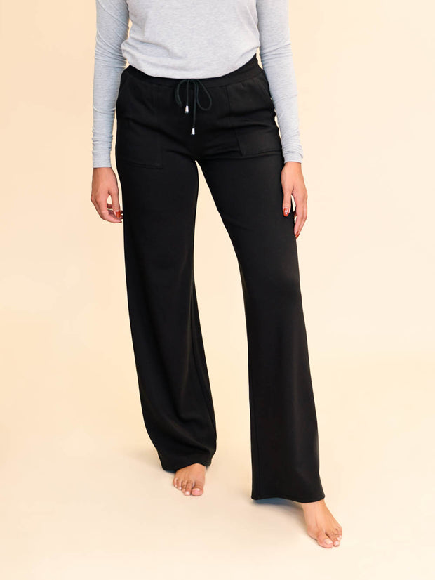 Wide Leg Tall Lounge Pant - Black