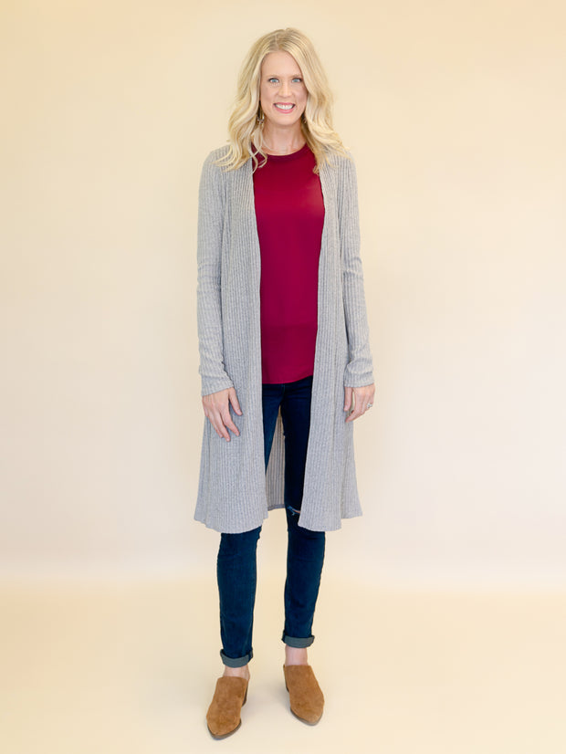 women's tall cardigan sweaters oatmeal ribbed duster