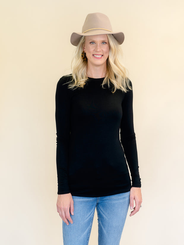 Favorite Black Long Sleeve Amalli Talli tops for tall women