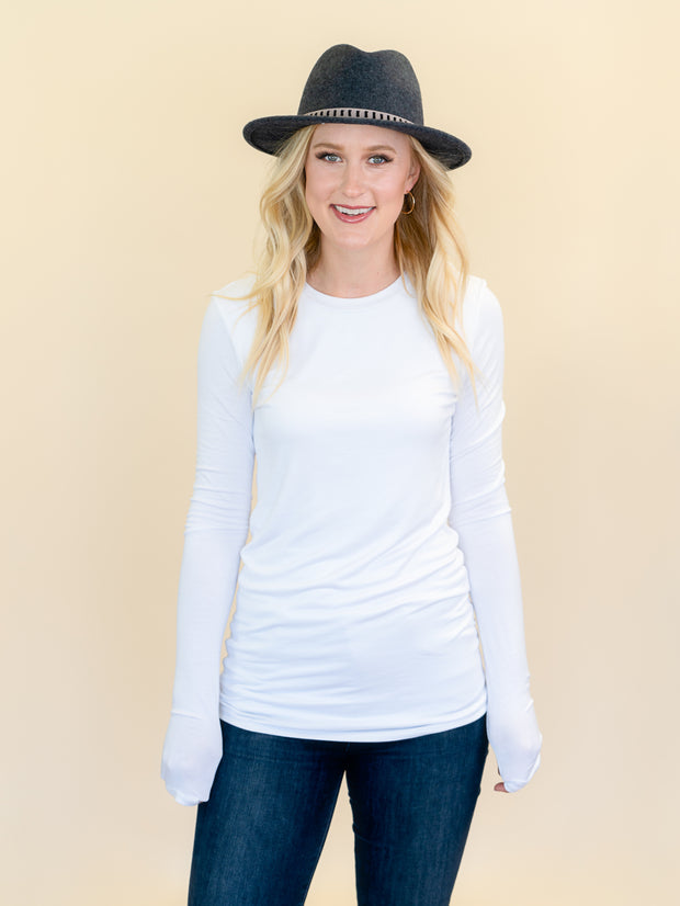 Favorite White Long Sleeve Top for tall women