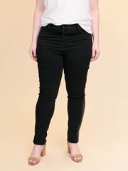 Jackson Tall Skinny Jean - High Rise Black Button Fly