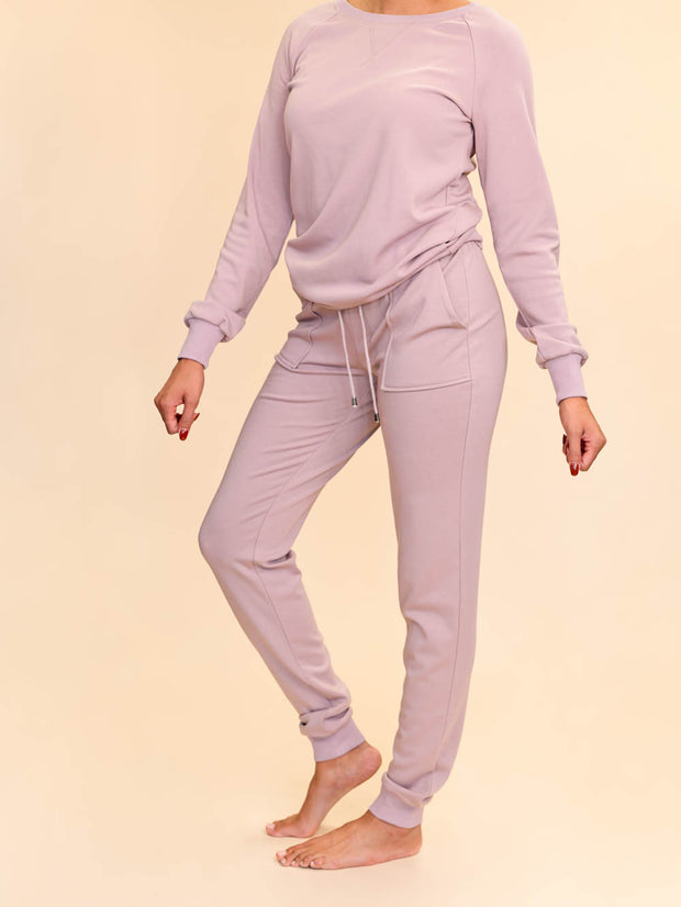 Jogger lounge pants for tall women side view