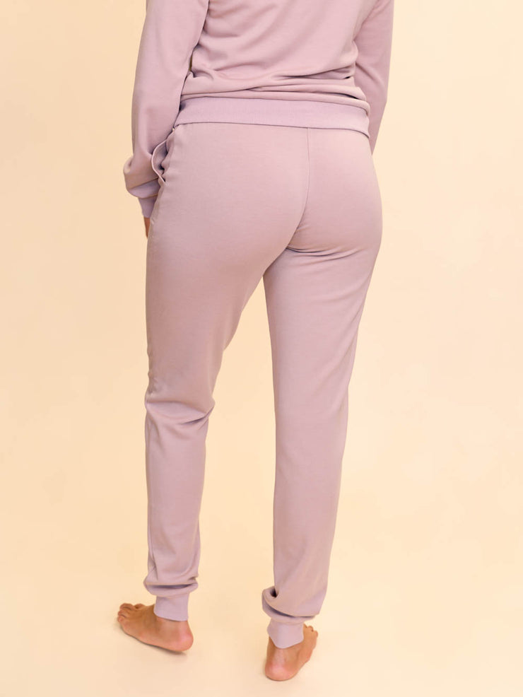 Jogger lounge pants for tall women back view