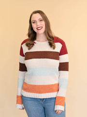 Women's Tall Striped Sweater Multicolor