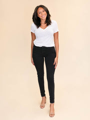 Black skinny jeans for tall women 36""