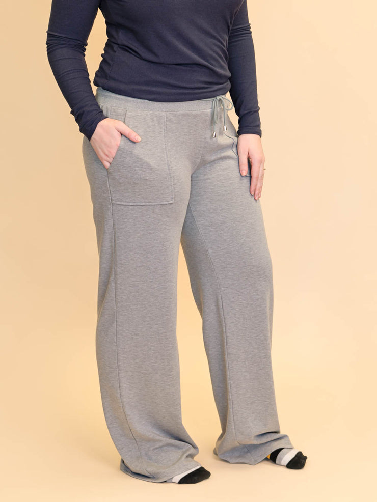 "Extra Long Tall Wide Leg Lounge pants for women 34"" inseam"