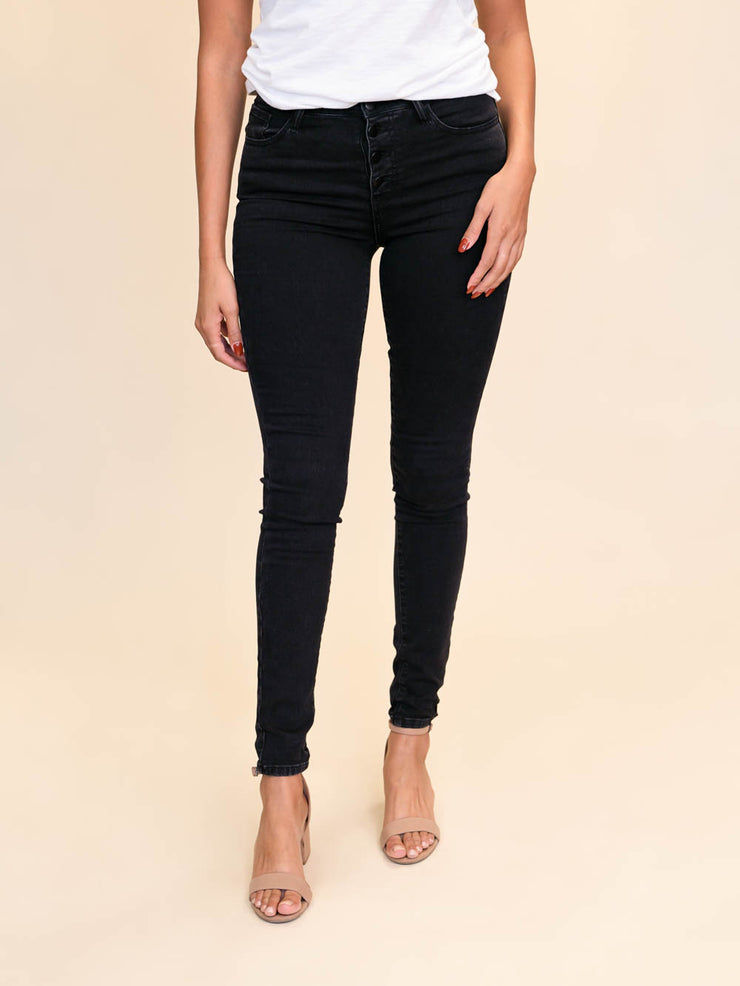 Tall black skinny jeans extra long