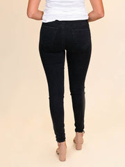 "36"" inseam skinny black jeans for tall women"