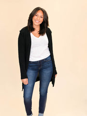 Tall Cardigan for ladies in black