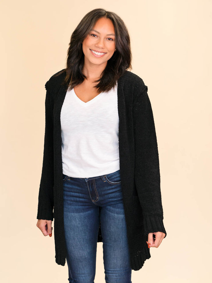 Black Tall Cardigan for ladies