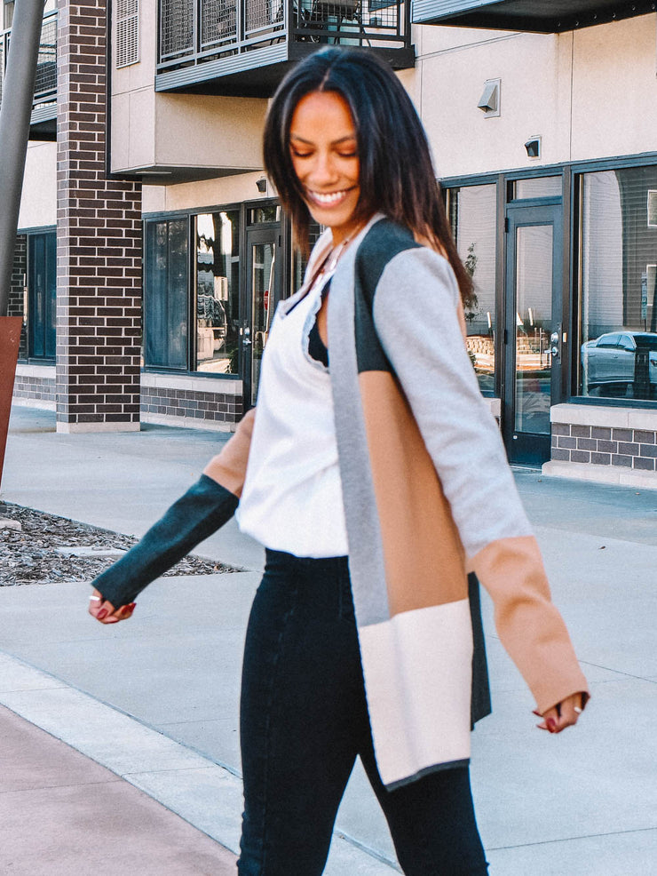 Tall Colorblock Cardigan for Women