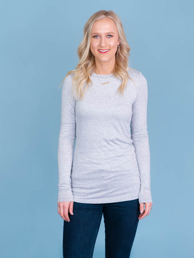 Favorite Crew Long Sleeve - Grey