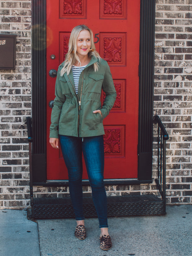 Women's Tall Utility Jacket Olive