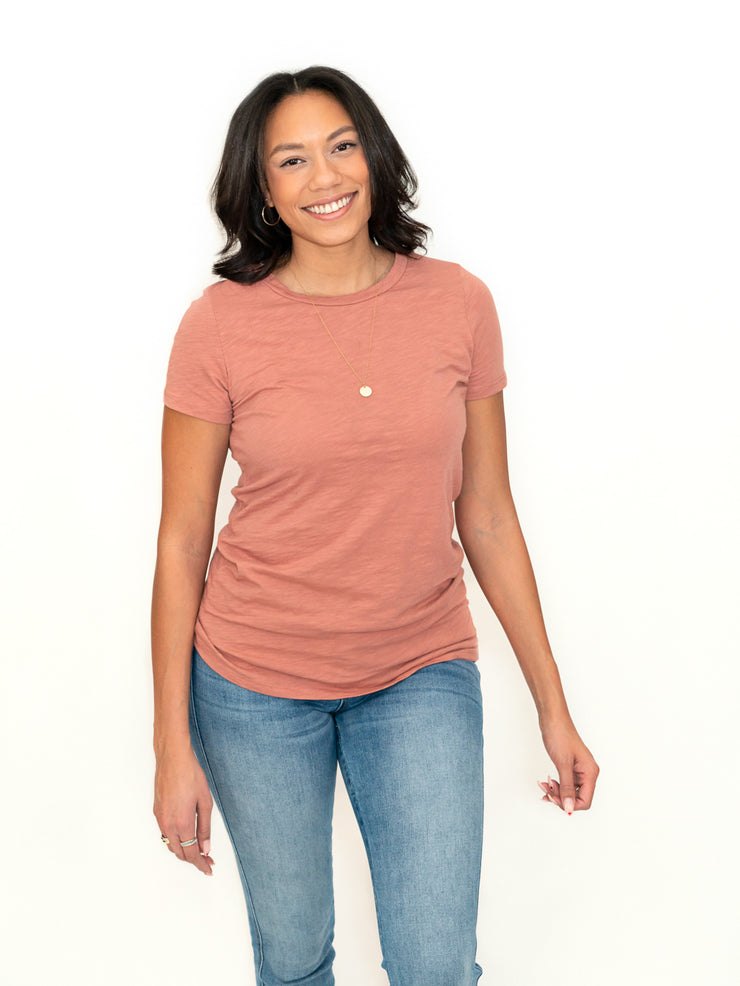 crew neck t-shirt for tall girls