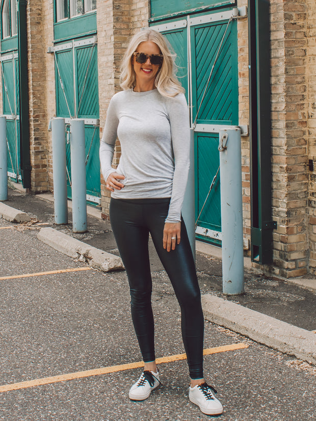Grey long sleeve t-shirt for tall women