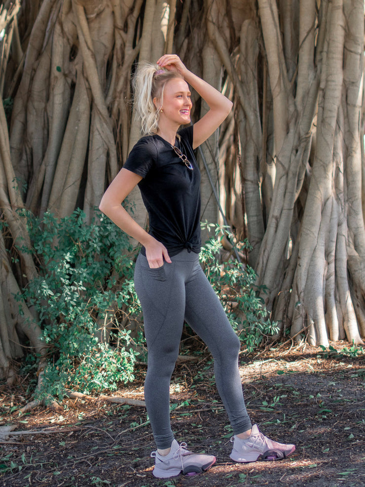 Essential Athletic Tall Legging - Heathered Grey