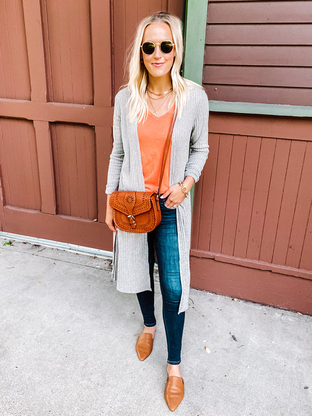 heathered orange v-neck t-shirt for tall girls