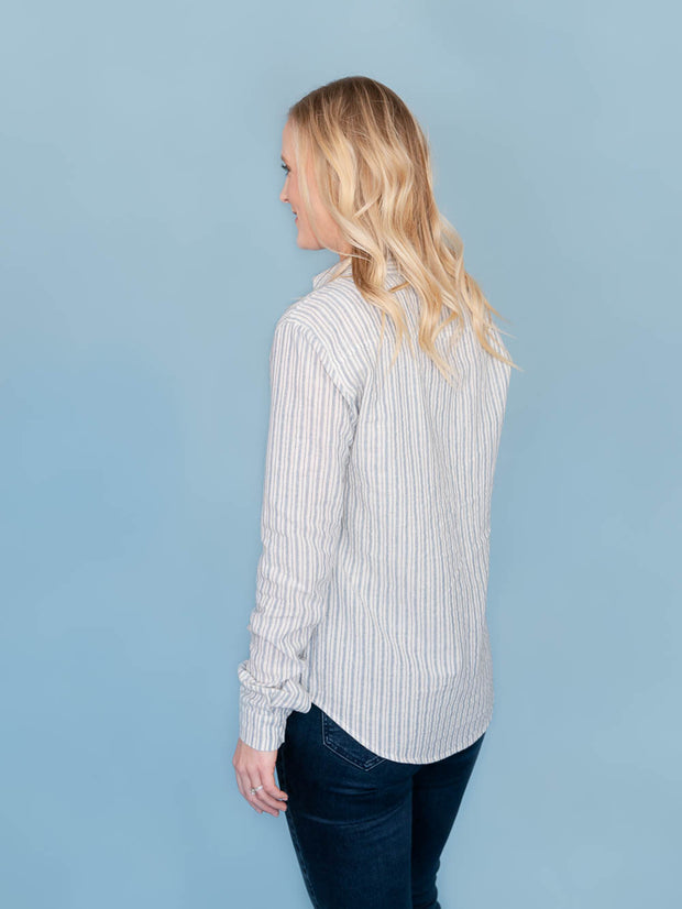 Lake Striped Button-Up