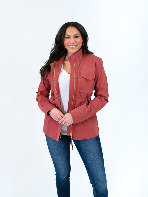 Utility jacket for tall women