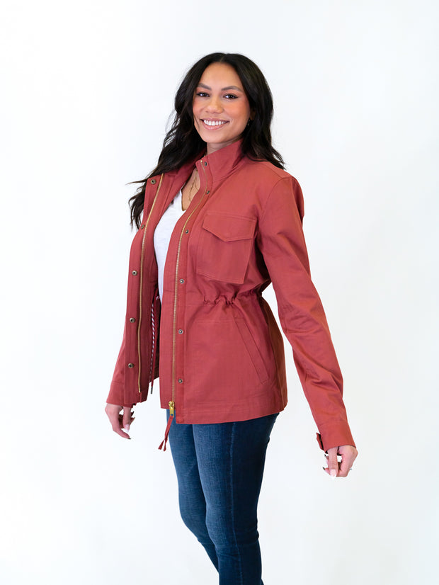 Rose utility jacket for tall women