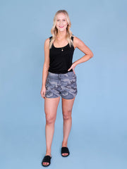 Camo Shorts for Tall Girls Full Length View