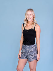 Camo Shorts for Tall Girls Side View