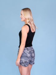 Camo Shorts for Tall Girls Back View