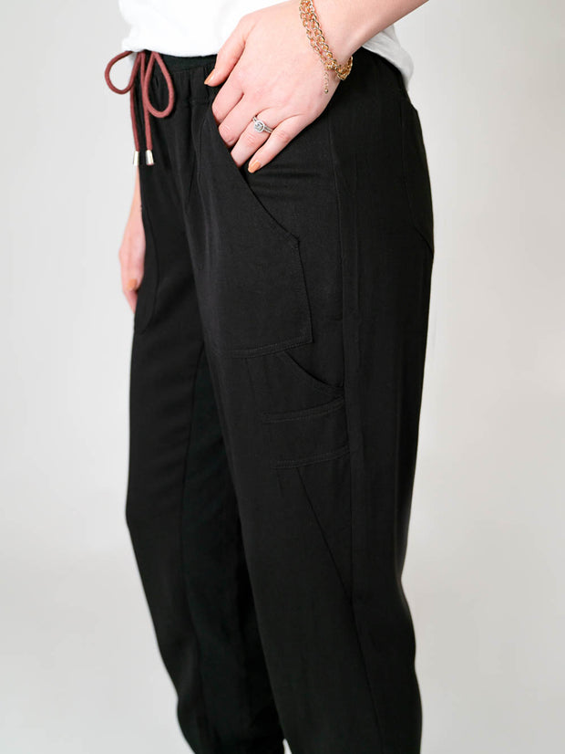 Utility jogger pant for tall women extra long inseam