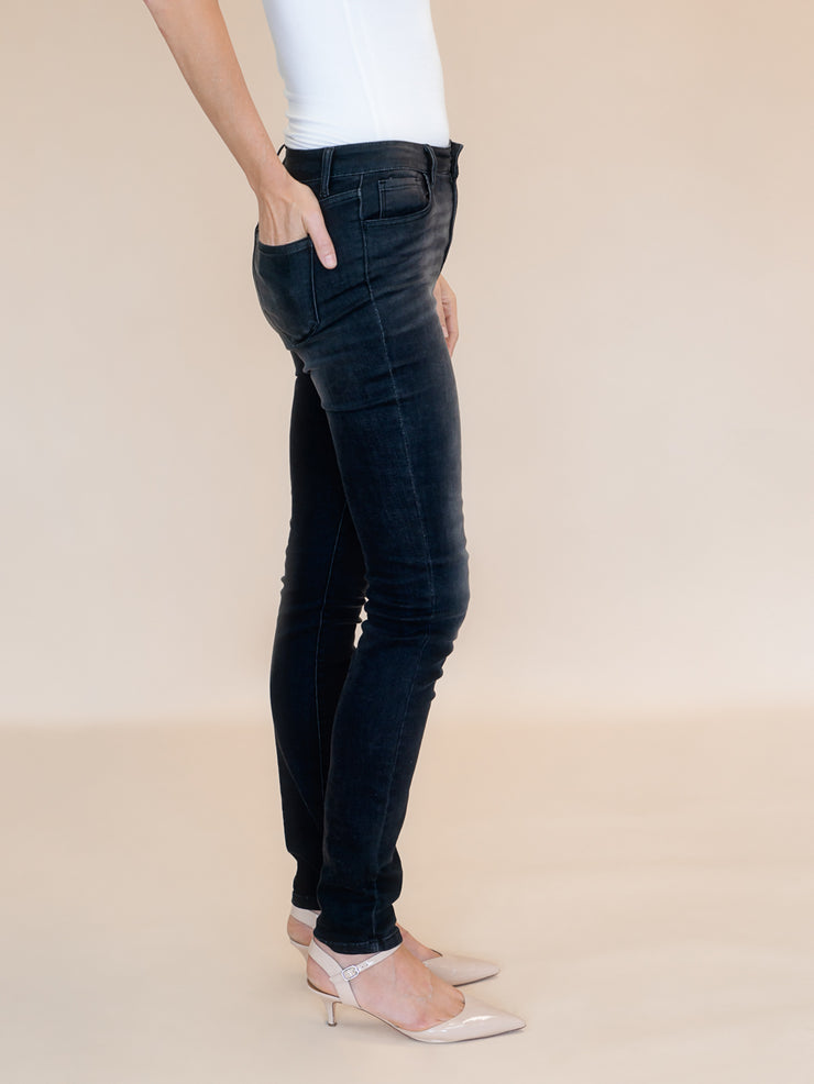 Blakely Tall Skinny Jean Smokey Black Wash