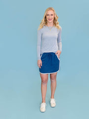 Tall women's skirt in blue