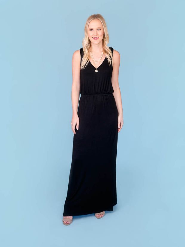 tall maxi dress black
