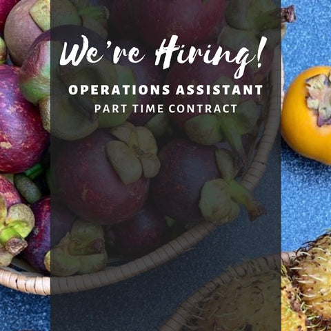 We're hiring a part time operations assistant