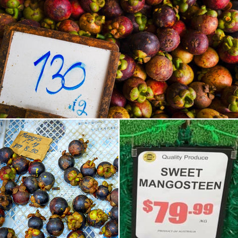 Price of Malaysian and Thai mangosteen