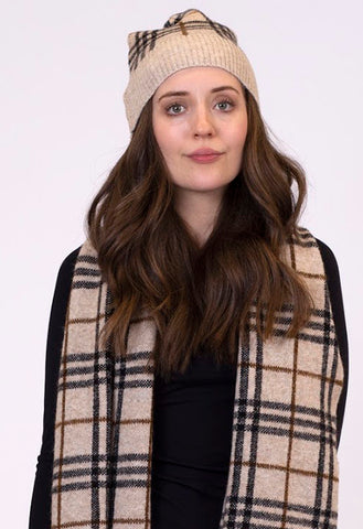 Lyla and Lux - Plaid Beanie