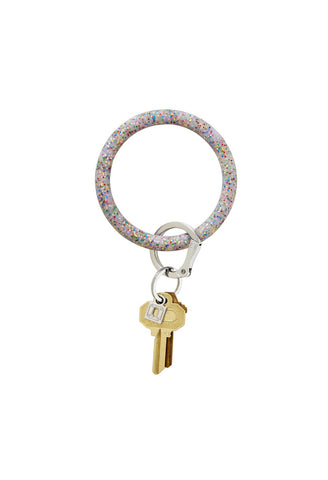 O-Venture - Big O Silicone Key Ring in Rainbow Confetti