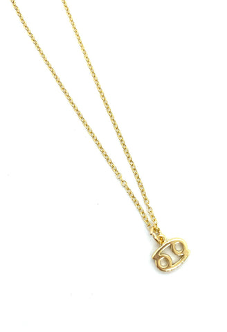 A & E Inspired -  Cancer Zodiac Necklace in Gold