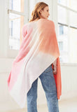 White + Warren - Cashmere Tri-Dye Mini Travel Wrap in Pink