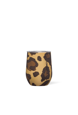 Corkcicle - 12oz Stemless Luxe Leopard